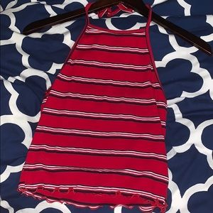 """Tilly""""s red halter top"""